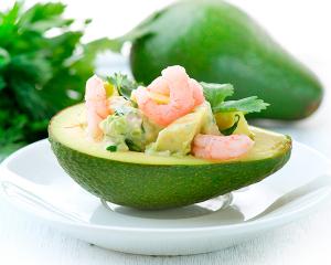Avocadosalat mit Garnelen