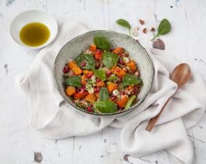 Quinoasalat mit Kürbis
