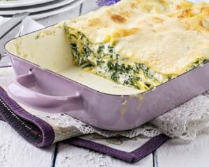 Würzige Spinat Lasagne