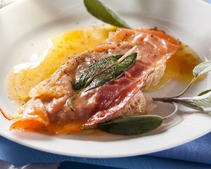 Kalbsschnitzel auf Italienische Art