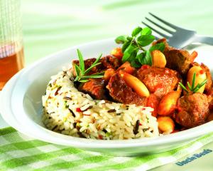 Toscana Lamm-Ragout mit feurigem Reis