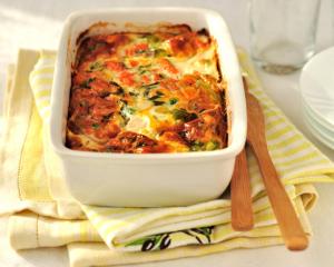 Putenschinken-Gemüse-Lasagne