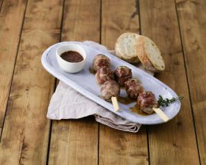 Glasierte Bacon-Meatballs