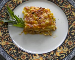 Zucchini-Lasagne,  vegetarisch