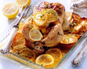 Sommerliches Zitronen Huhn