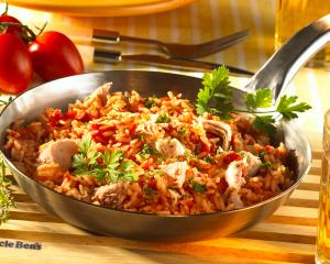Thunfisch-Tomate Reispfanne