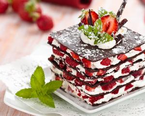 Schoko Erdbeer Türmchen