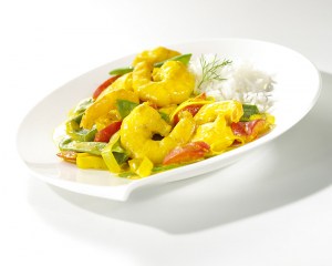 Shrimps-Gemüse Curry