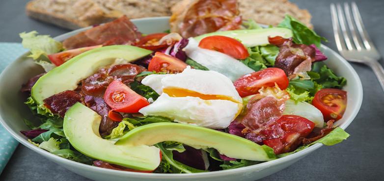 Prosciutto Avocado Salat
