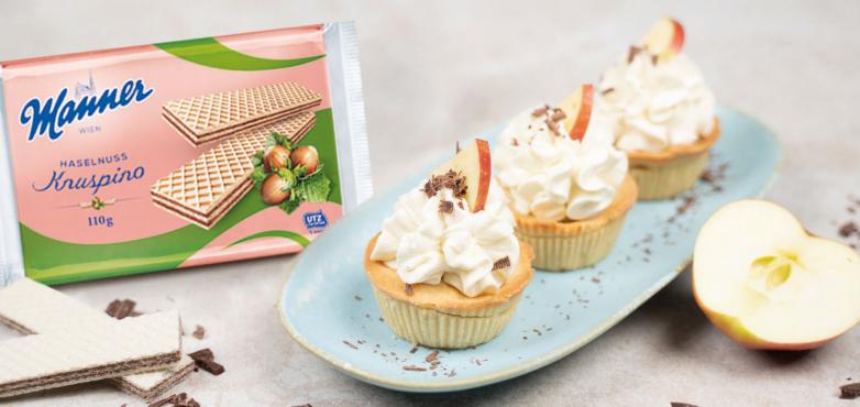 Apple-Pie Cupcakes mit Manner Knuspino Haselnuss