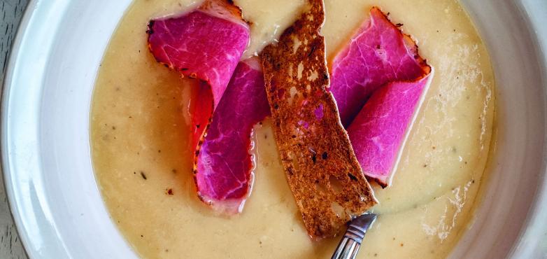 Weinviertler Veltliner-Brot-Suppe