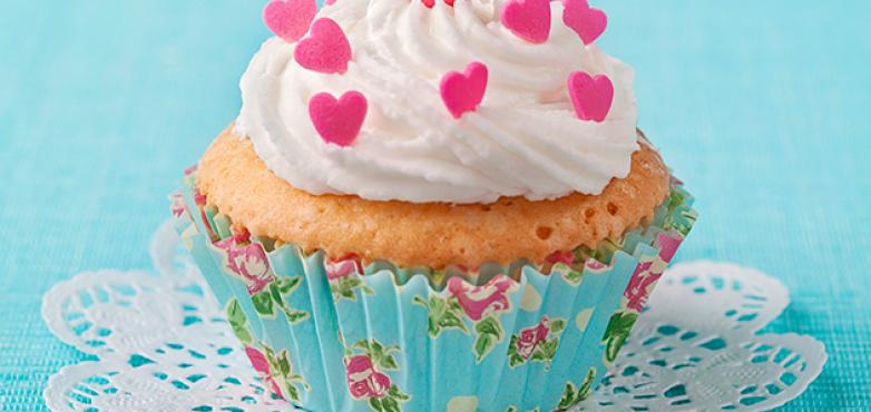 Herzige Vanille-Muffins
