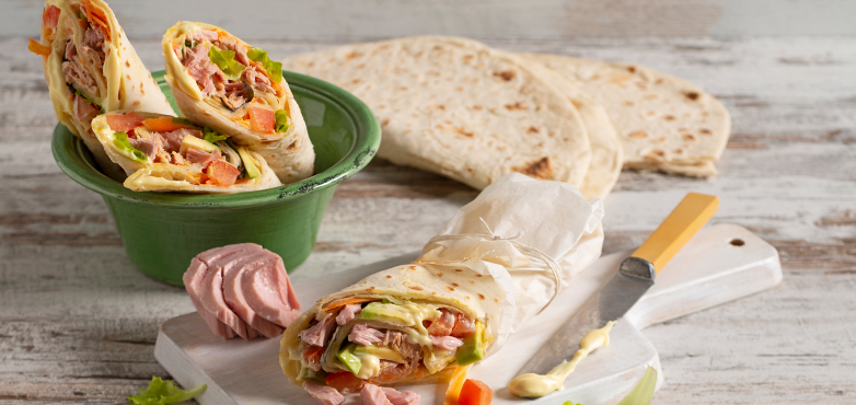 Thunfisch Wraps