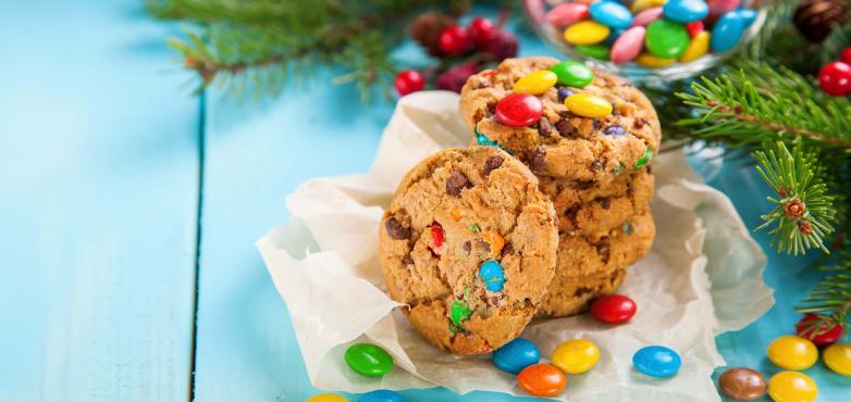 Bunte Smarties Kekse